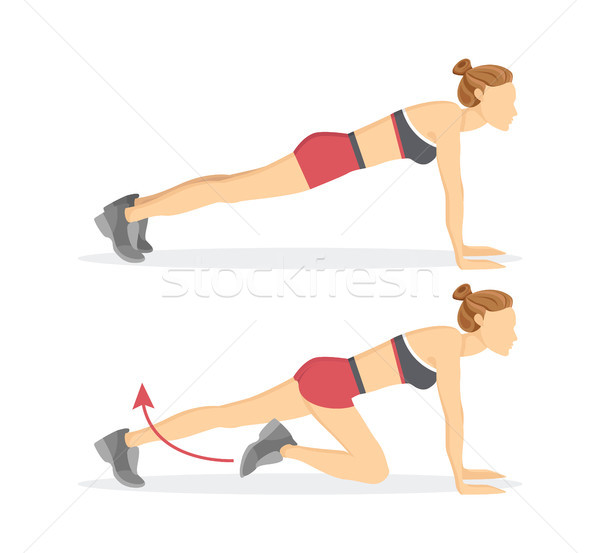 Slow Climbers Exercise Tabata Vector Illustration Stock photo © robuart