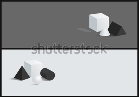 Gömb henger vektor kocka alkat gyűjtemény Stock fotó © robuart
