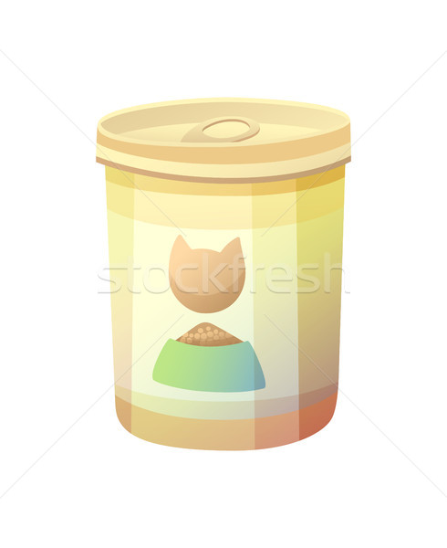 Bottle Can with Cat Image Vector Illustration Stock photo © robuart