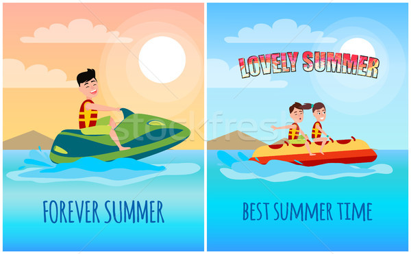 Lovely Summer, Collection Vector Illustration Stock photo © robuart