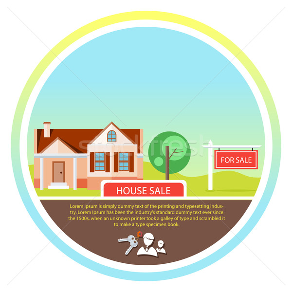 Sold home for sale sign Stock photo © robuart