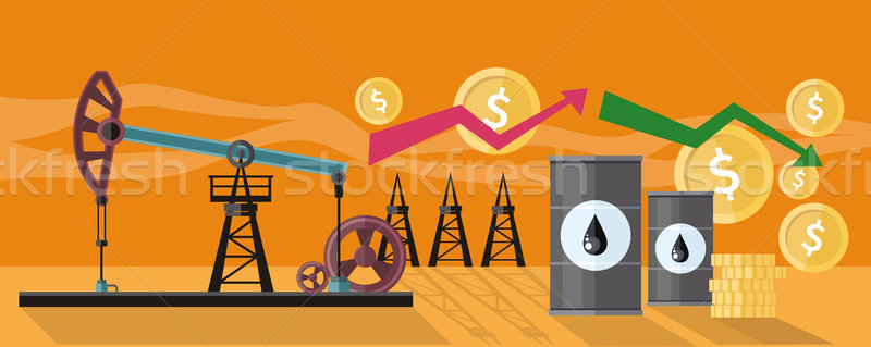 Graphic Changes in Oil Prices Production Stock photo © robuart