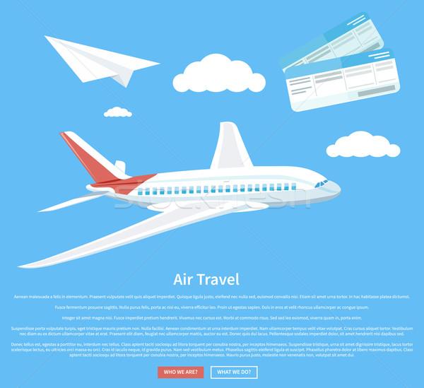 Воздушные путешествия Flying плоскости самолет авиакомпания Сток-фото © robuart