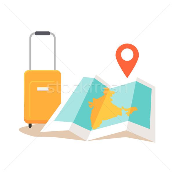 Travel India Conceptual Illustration. Stock photo © robuart