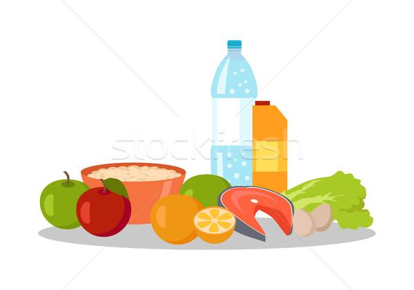 健康食品 バナー 孤立した 白 オーガニック 自然 ストックフォト © robuart