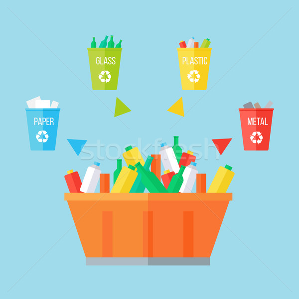 Garbage Sorting Concept Stock photo © robuart