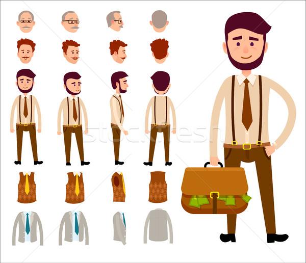 Businessman Constructor Isolated Illustration Stock photo © robuart