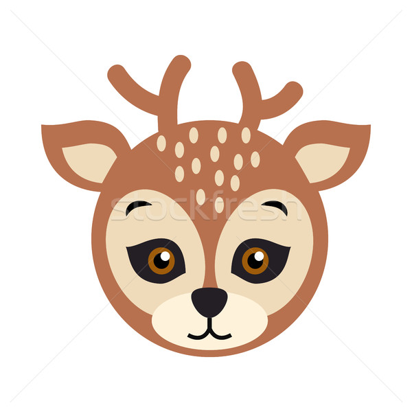 Deer Carnival Mask. Spotted Reindear with Horns Stock photo © robuart
