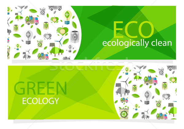 Green Ecological Equipment Set for Human Usage Stock photo © robuart