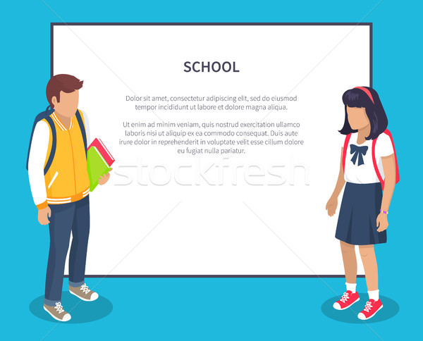 Escuela secundaria mochila vector ilustraciones Foto stock © robuart