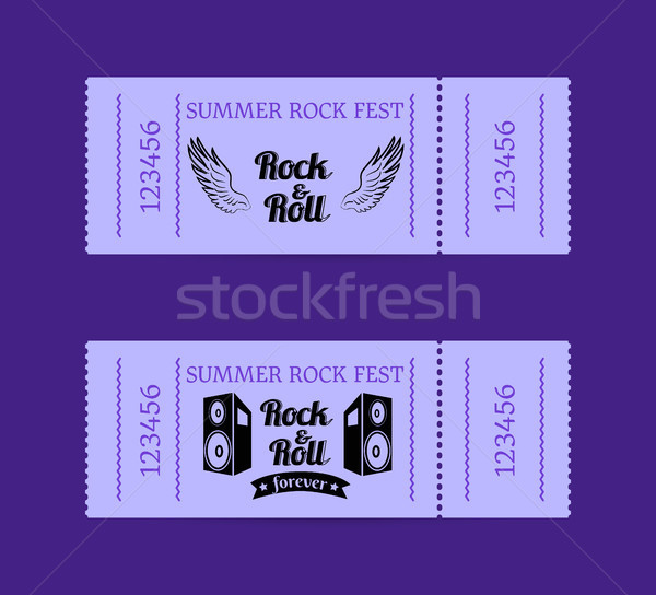 Summer Rock Fest Collection of Tickets with Text Stock photo © robuart
