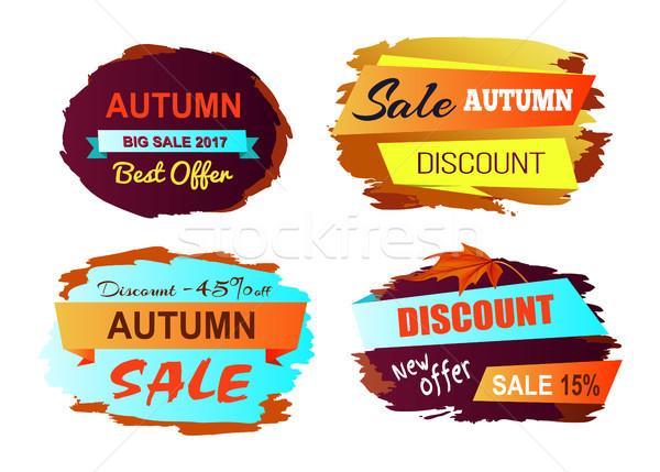 Autumn Discount Best Offer Vector Illustration Stock photo © robuart