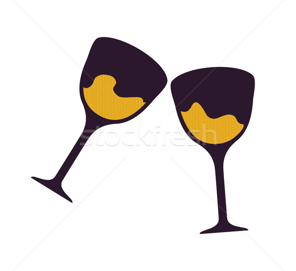 Two Glasses with Beverages Vector Illustration Stock photo © robuart