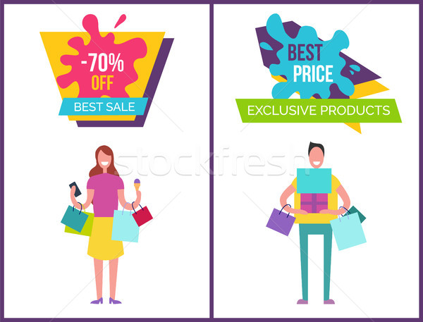 -70 Best Sale and Exclusive Vector Illustration Stock photo © robuart