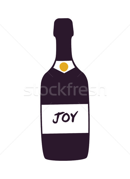 Joy Alcoholic Beverage Bottle Vector Illustration Stock photo © robuart