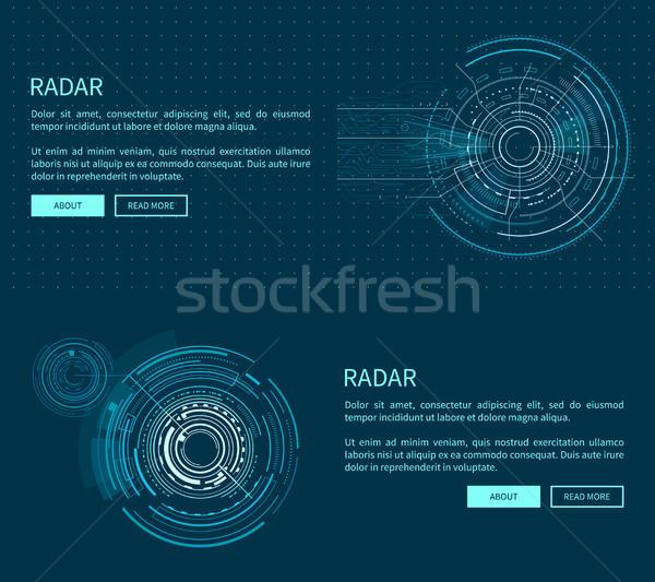 Radar layout beaucoup deux géométrique modèles Photo stock © robuart