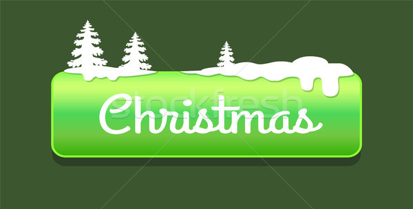 Christmas Green Push-button Vector Illustration Stock photo © robuart