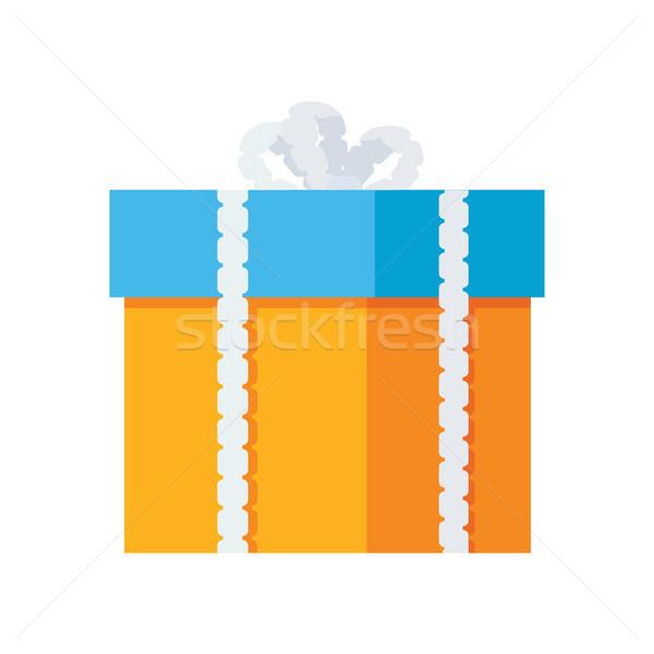 ギフトボックス 装飾的な 図面 包装紙 白 ボックス ストックフォト © robuart