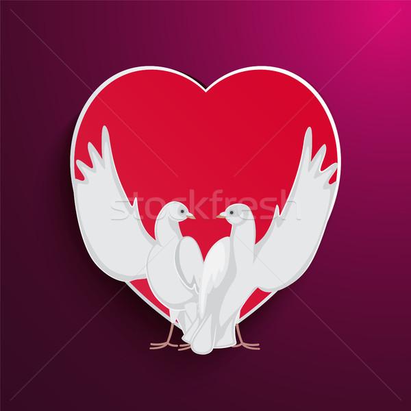Due ali up rosso cuore Foto d'archivio © robuart