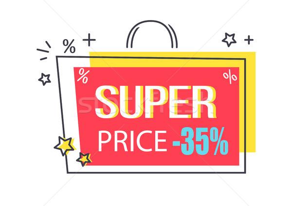 супер цен скидка рекламный наклейку звезды Сток-фото © robuart