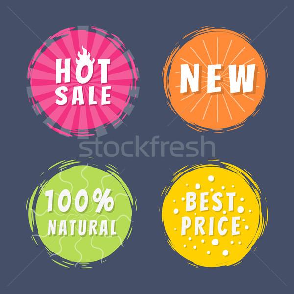 Forró vásár új 100 természetes legjobb ár Stock fotó © robuart