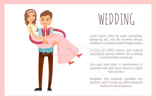 Mariage mari femme affiche Photo stock © robuart