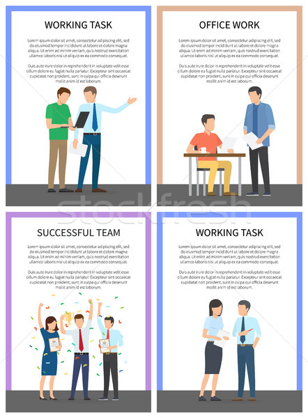 Working Task Successful Team Vector Illustration Stock photo © robuart