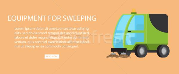 очистки механизм мусор оборудование Сток-фото © robuart