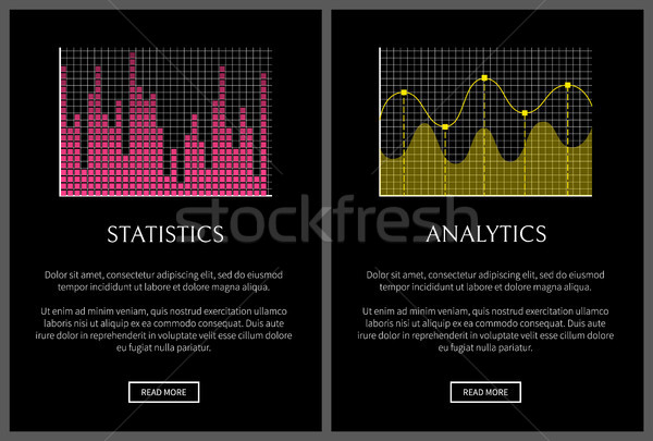 Analytics and Statistics Black Vector Illustration Stock photo © robuart