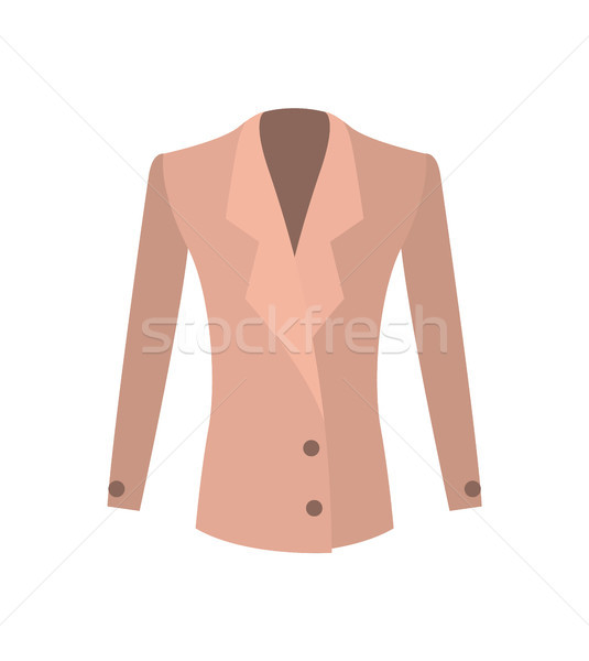 Women Jacket Double-Breasted with Buttons Vector Stock photo © robuart