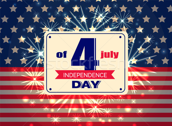 Independence Day 4th of July Colorful Illustration Stock photo © robuart