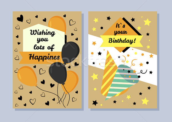 It s Your Birthday, Wishing You Lots of Happiness Stock photo © robuart