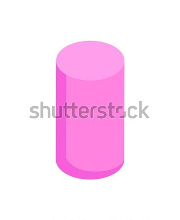 Pionowy różowy cylinder kolor refleksji geometryczny Zdjęcia stock © robuart
