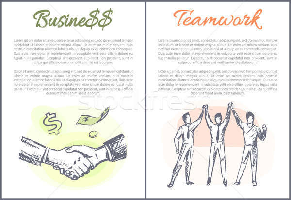 Business and Teamwork Posters Vector Illustration Stock photo © robuart