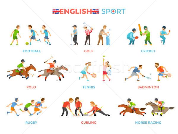 Famous English Traditional National Sport Kinds Stock photo © robuart