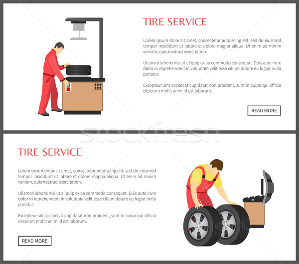 Tire Service and Automobile Workshop Color Card Stock photo © robuart