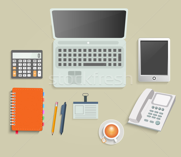 Set finanziaria servizio business gestione Foto d'archivio © robuart