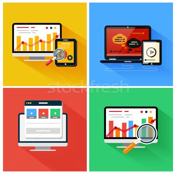 Seo optimization, programming process Stock photo © robuart