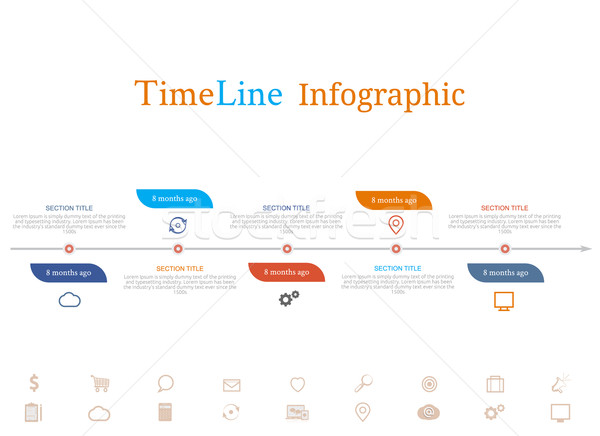 Timeline infographic with diagram and text Stock photo © robuart