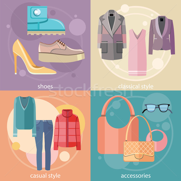 Fashion design clothes and accessories Stock photo © robuart