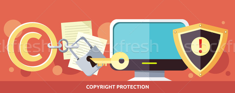 Concept of Copyright Protection in Internet Stock photo © robuart
