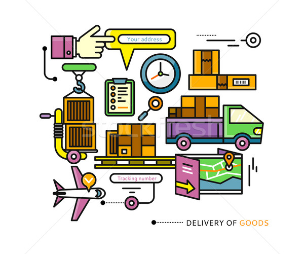 Delivery Service Aviation, Customs, Transport Stock photo © robuart