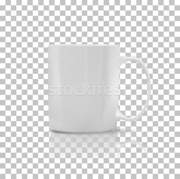 Zestaw kubek kubek biały kolor obiektu Zdjęcia stock © robuart