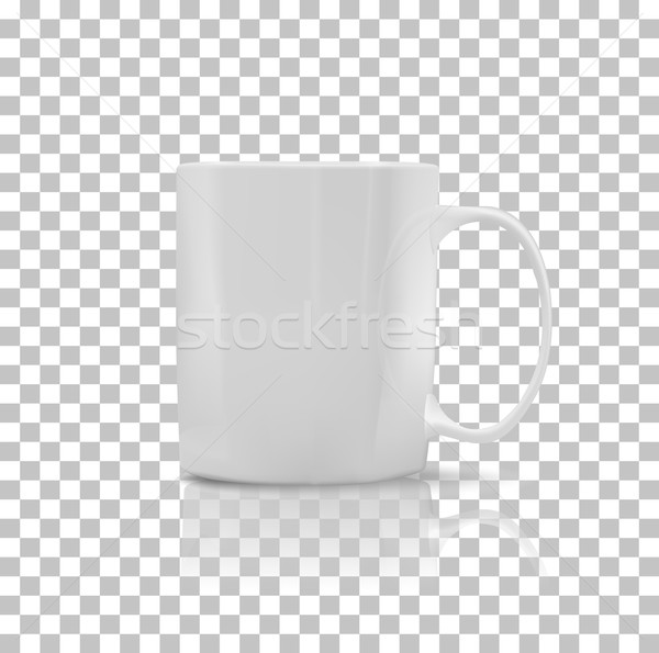 Set of Cup or Mug White Color Stock photo © robuart