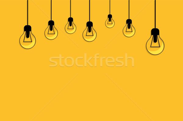 黄色 電球 アイデア 霊感 光 ストックフォト © robuart