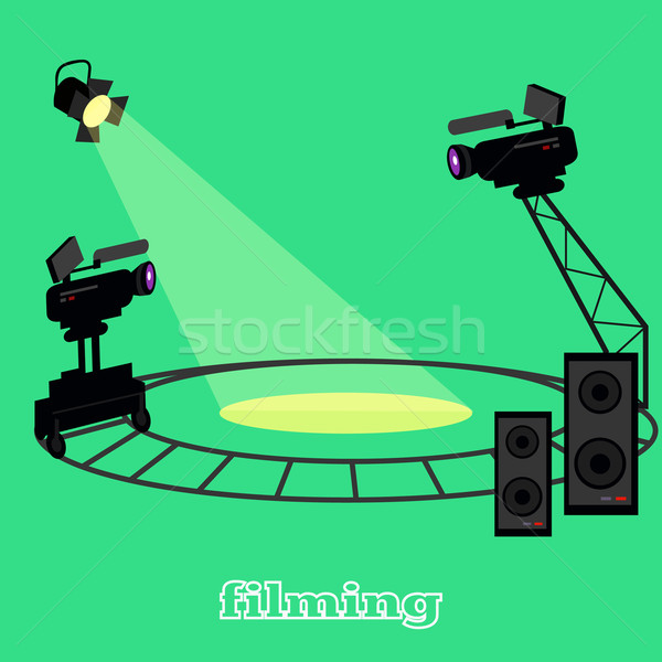 Película cámara proyector profesional circular Foto stock © robuart