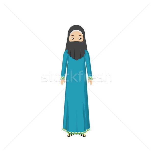 Saudi Arabia Traditional Clothes People Stock photo © robuart