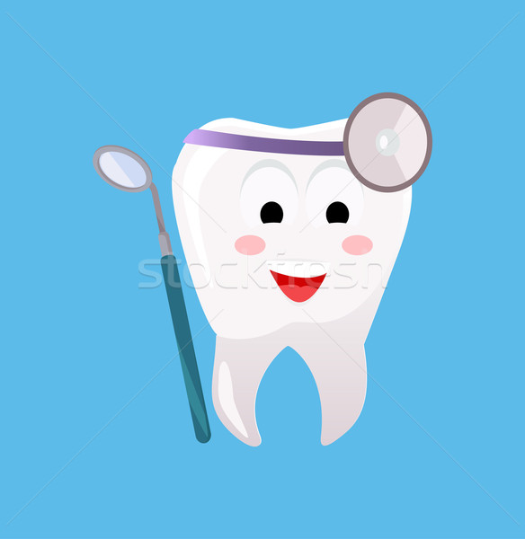 歯科 バナー ポスター 漫画 歯 歯科 ストックフォト © robuart