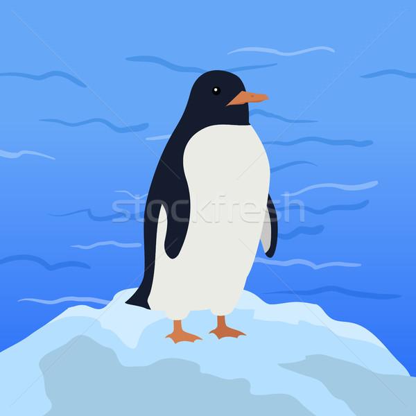 смешные пингвин иллюстрация император Арктика ледник Сток-фото © robuart