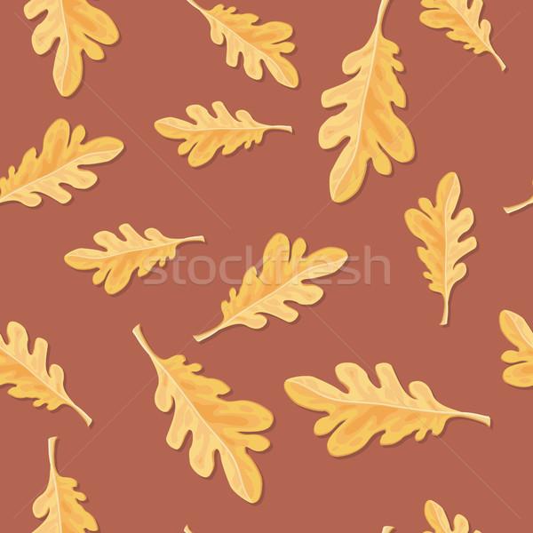 Rovere foglie vettore stile illustrazione Foto d'archivio © robuart